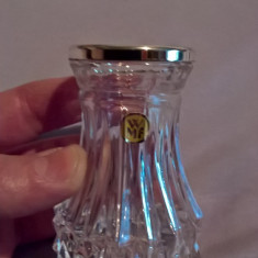 Vaza mica sticla sau cristal WMF cu montura la buza