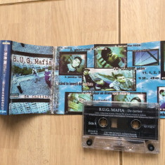 B.u.g. bug mafia de cartier caseta audio muzica hip hop gangsta cat music 1997, Casete audio