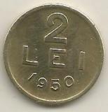 ROMANIA   2  LEI  1950    [1]  XF  ,   livrare in cartonas, Cupru-Nichel