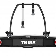 Suport biciclete Thule VeloSpace 918 (mufa conectare 7 pini) cu prindere pe carligul de remorcare - pentru 2 biciclete Grand Luggage - Bare Auto longitudinale