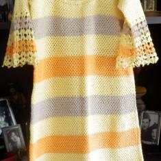 Vand rochie din bumbac mercerizat - Rochie tricotate, Culoare: Galben, Marime: 42