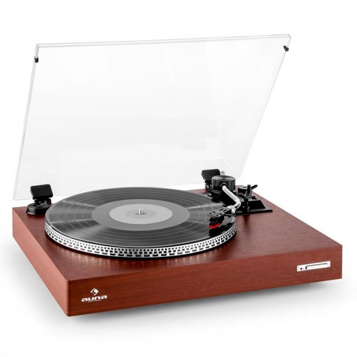 Auna TT-931 gramofon din finisaj din lemn foto mare