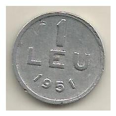 ROMANIA 1 LEU 1951 [22] livrare in cartonas - Moneda Romania, Aluminiu