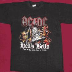 Tricou AC/DC - I Got My Bell ,calitate 180 grame,tricouri formatii rock, L, M, S, Maneca scurta, Negru