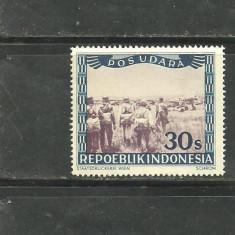 INDONEZIA 1948 - POSTA AERIANA, PARASUTISTI, timbru nestampilat CD80