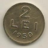 ROMANIA   2  LEI  1950    [14]    livrare in cartonas, Cupru-Nichel