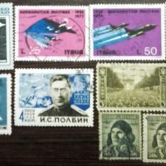 AVIATIE. AVIOANE MILITARE DE VANATOARE, 10 timbre stampilate, DF11