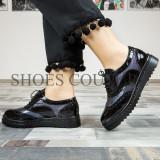 Pantofi casual dama din piele naturala,Cod:480 Negru (Culoare: Negru, Marime Incaltaminte: 40)