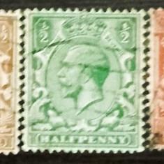 ANGLIA 1912 – REGELE GEORGE V, timbre stampilate CD83