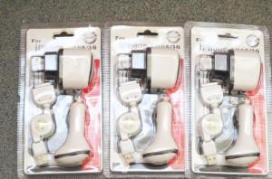 Incarcator telefon cablu retractabil USB 12V 220V