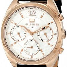 Tommy Hilfiger 1781484 ceas dama nou, 100% original. In stoc - Livrare rapida., Elegant, Quartz, Inox, Piele, Ziua si data
