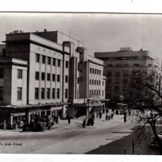 BUCURESTI PIATA AMZEI CAMION BUFETUL VALCELE TEATRUL RPR - Carte Postala Muntenia dupa 1918, Necirculata, Fotografie