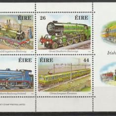 Transporturi, locomotive, Irlanda. - Timbre straine, Nestampilat
