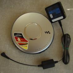 Discman (C D Walkman) SONY D-EJ021 + Alimentator Original si Geanta - ca NOI - CD player