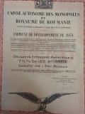 1000 Franci Aur Obligatiune la purtator Titlu de Stat Royaume Roumanie 1931