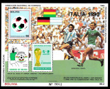 BOLIVIA 1988 FOTBAL CUPA MONDIALA COTA MICHEL 30 EURO, Nestampilat
