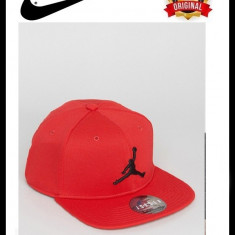 Sapca Nike Jordan Jumpman Rosie - Originala - Reglabila - 53% Poliester + Bumbac - Sapca Barbati Nike, Marime: Marime universala, Culoare: Rosu