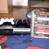 Consola Sony PS3 PlayStation 3 Fat 80GB + 2 joystick-uri + 15 jocuri originale