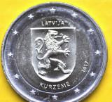 LETONIA moneda 2 euro comemorativa 2017 -Kurzeme, UNC