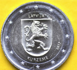 LETONIA moneda 2 euro comemorativa 2017 -Kurzeme, UNC, Europa, Cupru-Nichel