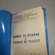 CARNET DE MEMBRU SI PERMIS DE PESCUIT - Diploma/Certificat