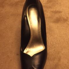 Patofi Nine West negri - Pantof dama Nine West, Culoare: Negru, Marime: 38, Cu toc