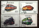 TANZANIA - LOCOMOTIVE, timbre stampilate CD76, Stampilat