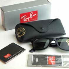 Ochelari Ray Ban Wayfarer Rama neagra Lentile verzi - Ochelari de soare Ray Ban, Unisex, Negru, Plastic, Protectie UV 100%