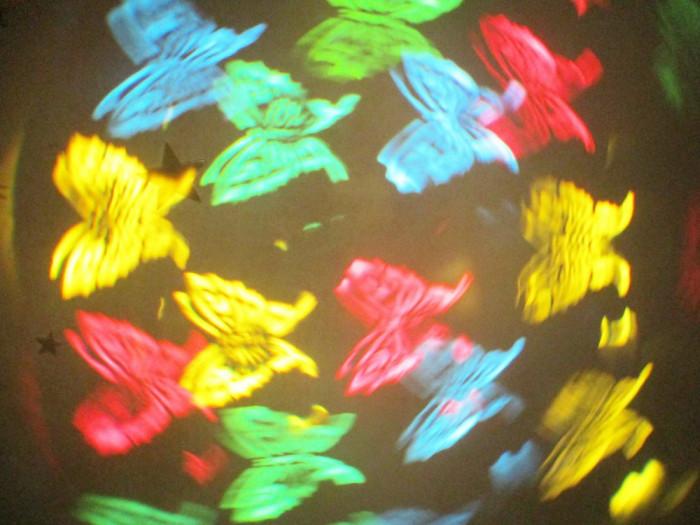 Proiector scanner 8 imagini fluturi flori cercuri, cluburi, disco