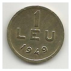 ROMANIA 1 LEU 1949 [9] XF, livrare in cartonas - Moneda Romania, Cupru-Nichel