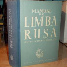 MANUAL DE LIMBA RUSA PENTRU CURSURILE POPULARE - 1961
