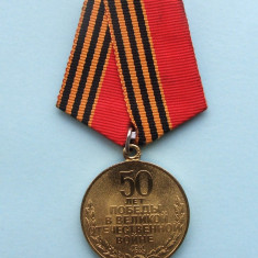 Medalie Rusia - 50 Years of Victory in the Great Patriotic War 1941–1945 - Decoratie