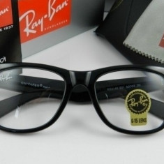 Ochelari Ray Ban Wayfarer 2140 Rama neagra Lentile transparente - Ochelari de soare Ray Ban, Unisex, Plastic, Protectie UV 100%