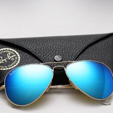 Ochelari Ray Ban Aviator 3025 112/17 - Ochelari de soare Ray Ban, Unisex, Albastru, Pilot, Metal, Protectie UV 100%