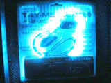 Banda silicon auto 12V 15 leduri albastre SMD