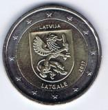 LETONIA moneda 2 euro comemorativa 2017 -Letgale, UNC, Europa, Cupru-Nichel