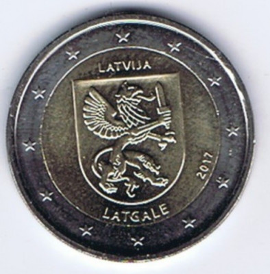 LETONIA moneda 2 euro comemorativa 2017 -Letgale, UNC foto