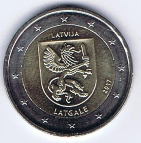 LETONIA moneda 2 euro comemorativa 2017 -Letgale, UNC