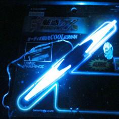 Banda plastic auto albastra conectare la bricheta 12V