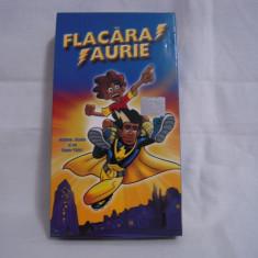 Vand caseta video Flacara Aurie, originala, VHS, noua - Film animatie, Romana