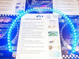 Banda silicon albastru auto 48 cm 48 leduri SMD albastre din silicon flexibil