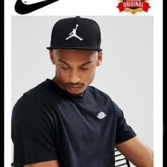 Sapca Nike Jordan Jumpman Neagra - Originala - Reglabila - 100% Poliester, Marime universala, Negru