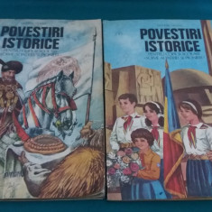 POVESTIRI ISTORICE / VOL. II, III/DUMITRU ALMAȘ/ILUSTRAȚII VALENTIN TĂNASE/1982 - Carte educativa