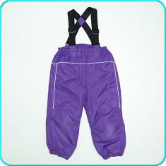 Pantaloni-salopeta iarna, caldurosi, impermeabili, C&A → fete | 3-4 ani | 98-104, Marime: Alta, Culoare: Mov