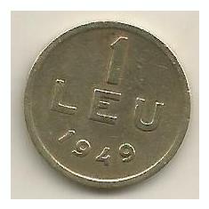 ROMANIA 1 LEU 1949 [12] VF, livrare in cartonas - Moneda Romania, Cupru-Nichel