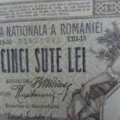 Bancnote romanesti 500lei 1918 luna august xf plus - Bancnota romaneasca