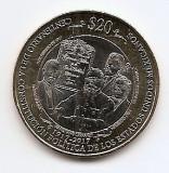 Mexic 20 Pesos 2017 - (Constitution centennial) 32 mm, KM-989 UNC !!!, America Centrala si de Sud