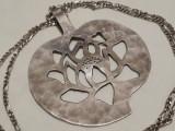 Medalion argint FRANTA 1920 art deco Impunator MASIV de Efect pe Lant argint RAR