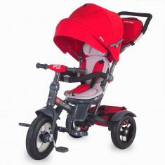 Tricicleta Coccolle Giro Plus multifunctionala - Rosu - Tricicleta copii