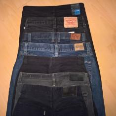 Pachet lot 7 perechi pantaloni blugi - Blugi barbati Levi's, Marime: 29, Culoare: Negru, Lungi